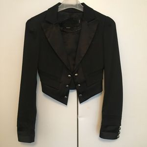 GUESS Crop Blazer With Back Tie Detail
